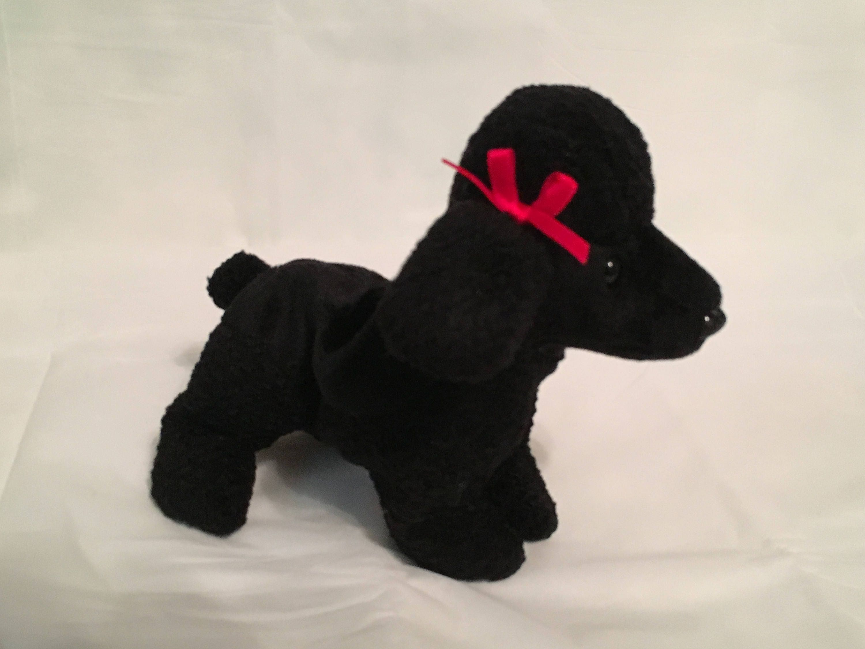 0ac0746e128 TY Beanie Baby GIGI the Black Poodle Dog Pristine with