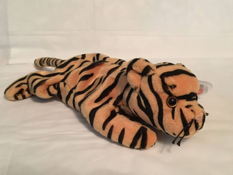 8ef56b6d5c1 TY Beanie Baby STRIPES the Begal Tiger Pristine with Mint