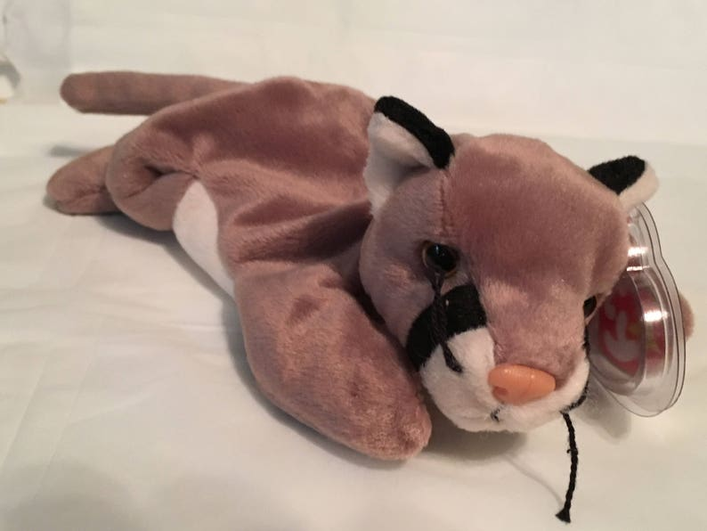 b3feff3fba1 TY Beanie Baby CANYON the Cougar Pristine with Mint Tags
