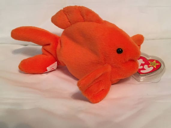 475c6d30df6 TY Beanie Baby GOLDIE the Goldfish Pristine with Mint Tags