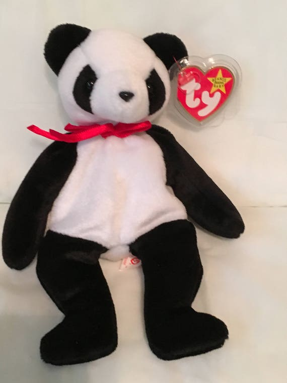 TY FORTUNE the PANDA BEANIE BABY MINT with MINT TAG