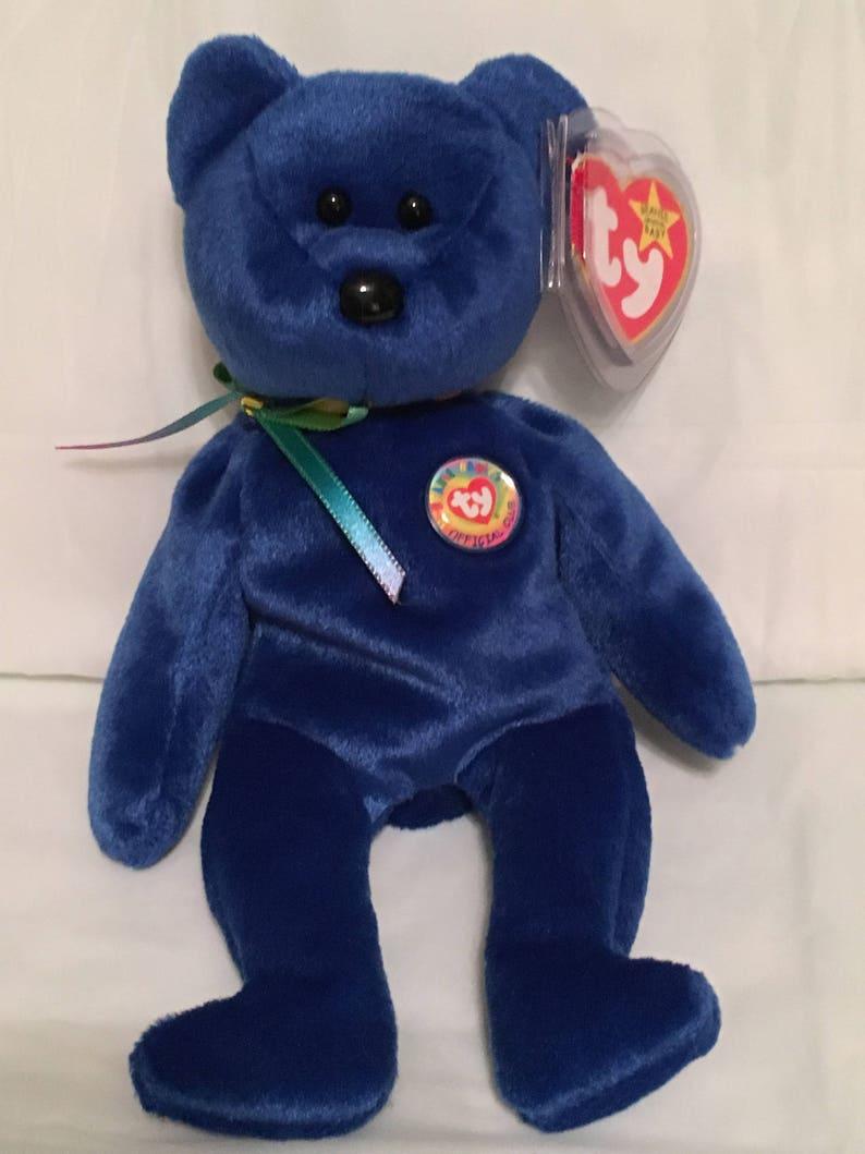 Retired 1998 CLUBBY BEAR TY Beanie Baby Pristine w Mint Tags