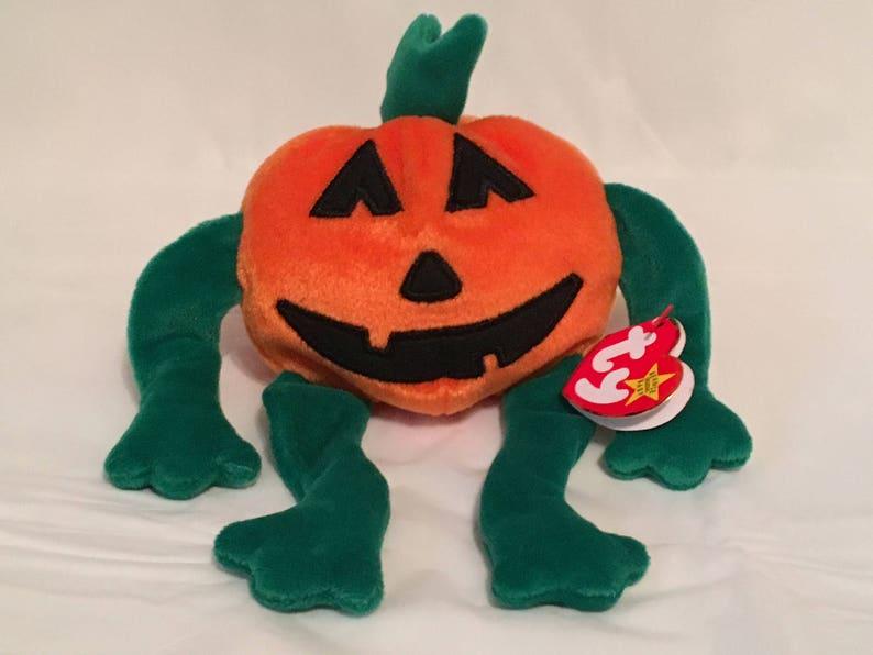 ffc62b6930d TY Beanie Baby PUMKIN the Halloween Pumpkin Pristine with