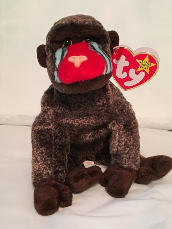 fe7d6e5f978 TY Beanie Baby CHEEKS the Baboon Pristine with Mint Tags