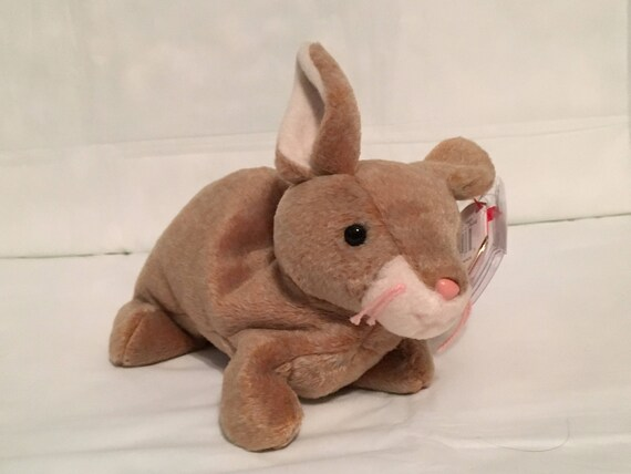 c963ced2bb6 TY Beanie Baby NIBBLY the Rabbit Pristine with Mint Tags