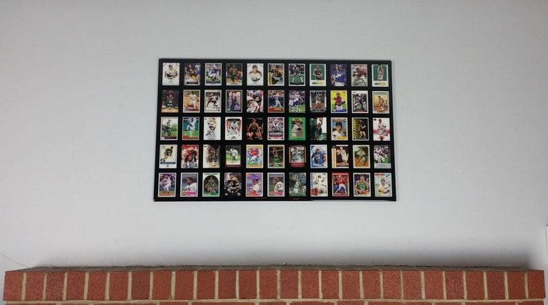 Custom Sports Cards Display Black High Gloss Epoxy Finish Man Cave Custom Frame Wall Decor Baseball Football Basketball Hockey