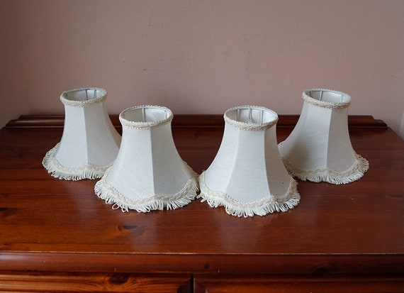 4 Small Chandelier Lamp Shades Clip On Lamp Shades