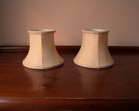 2 Vintage Small Chandelier Lamp Shades Clip On Lamp Shades