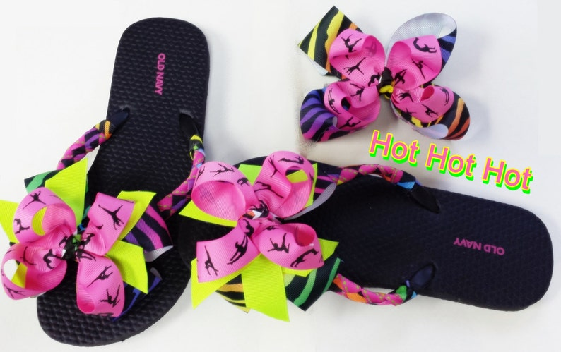 14f80d97b148 Flip Flops Embellished Flip Flops  cheer team dance