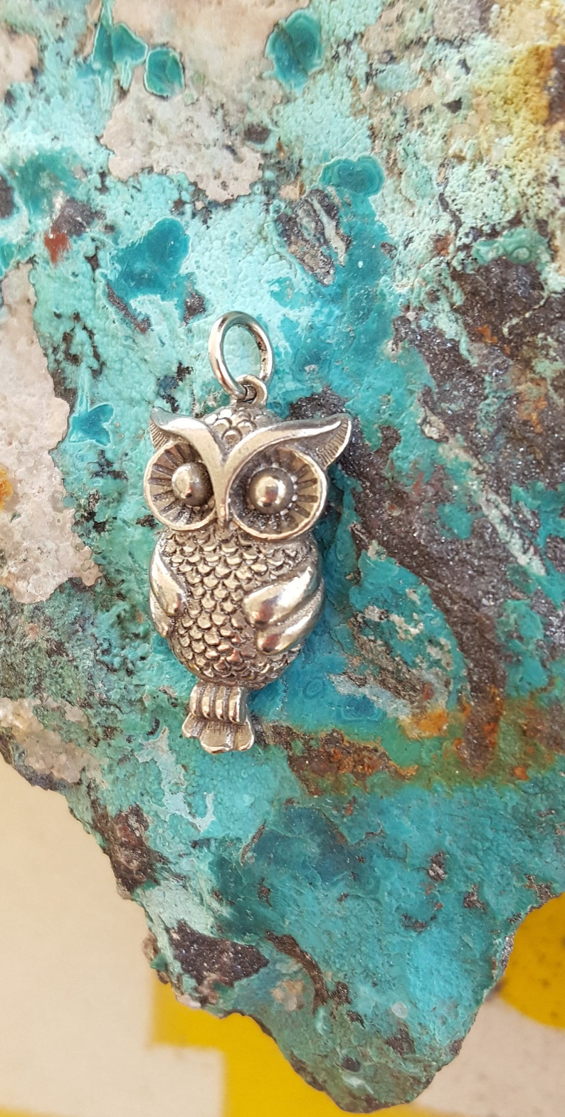 Pewter Owl Pendant~Artisan Pewter Handcrafted in Denver Colorado~Quality  Cast Pewter Solid Owl Bird Pendant~Gift for Her~JewelsandMetals