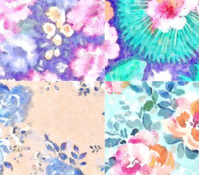 270d227a9530ab Verkauf Floral Print Digital Paper Aquarell Floral Muster | Etsy