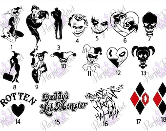 Harley Quinn Sticker Decal HOLOGRAPHIC