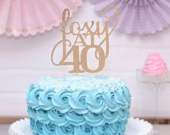 40th Birthday Cake Topper For Her