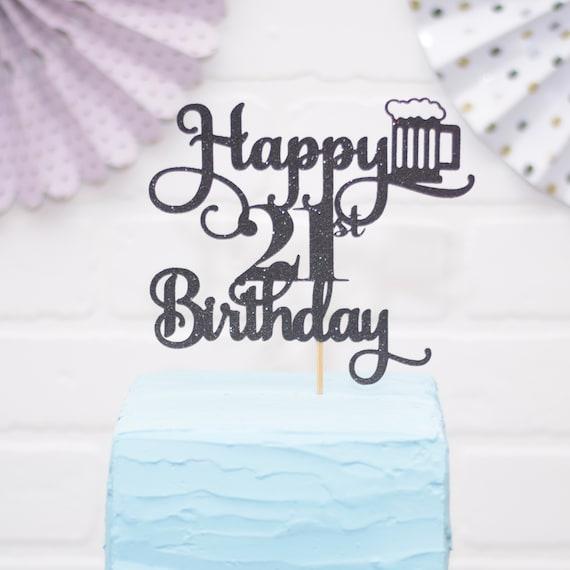 Surprising 21St Birthday Gift For Him 21St Birthday Cake Topper Beer Etsy Birthday Cards Printable Giouspongecafe Filternl