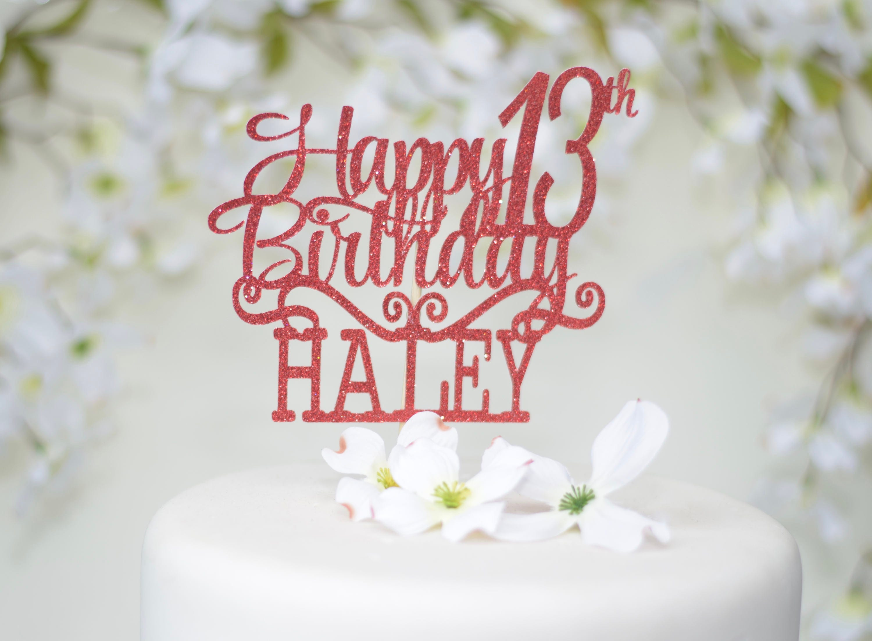 13th Birthday Cake Topper Personalized For