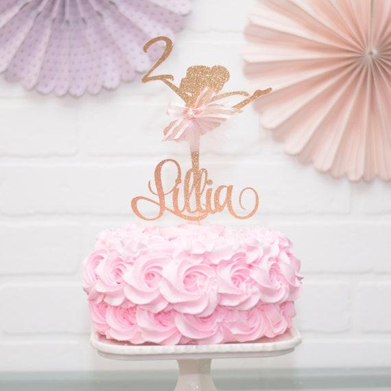 Strange Ballerina Birthday Cake Topper Party Decoration Tutu Cute Etsy Birthday Cards Printable Opercafe Filternl
