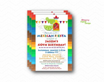 fiesta retirement party invitation mexican fiesta party etsy