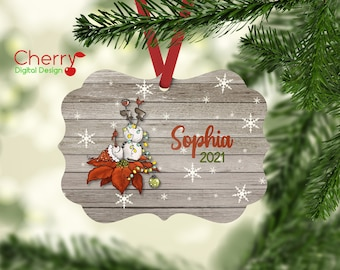Funny Wine Drunk Snowman Personalized Ornament | Wine Lover Gift