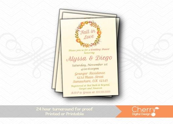 Fall in love wedding shower invitations autumn bridal shower etsy image 0 filmwisefo