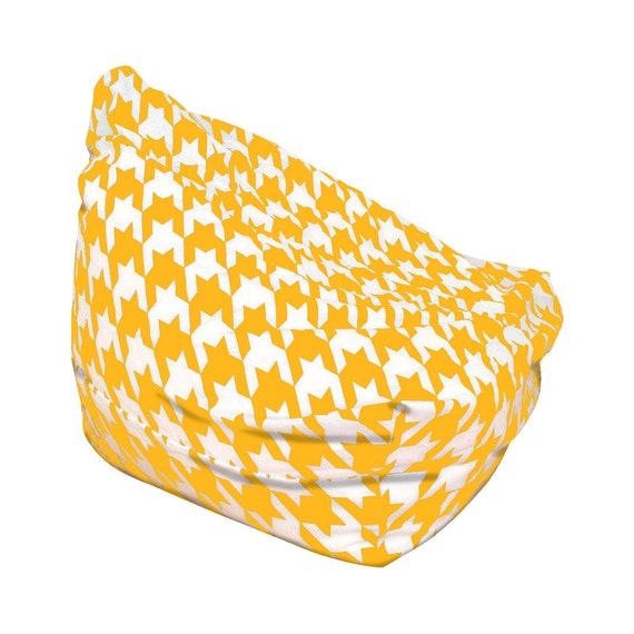 Cool Bean Bags Funky Kids Chairs Adults Large Floor Cushion Houndstooth Yellow Short Links Chair Design For Home Short Linksinfo