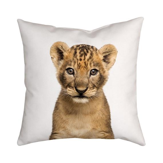 Löwenjunges Baby Tier Kissen Kinderzimmer Dekoration Wald | Etsy