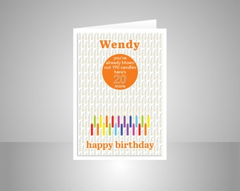 Funny 20th Birthday Card For Boy Girl Edit Name 20 Bday Wishes Him Her Son Daughter Brother Sister Or Friend Candles