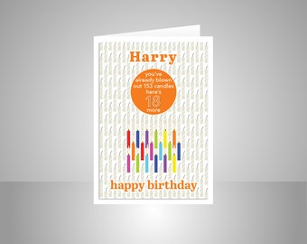 Funny 20th Birthday Card For Boy Girl Edit Name 20 Bday Etsy