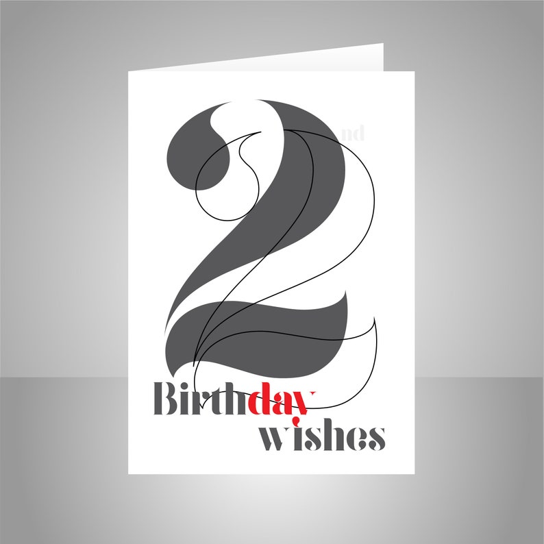 22nd Birthday Wishes Card For Him Or Her 22