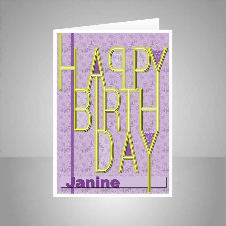 Daughter Or Edit Name Happy Birthday Card For Girl Female