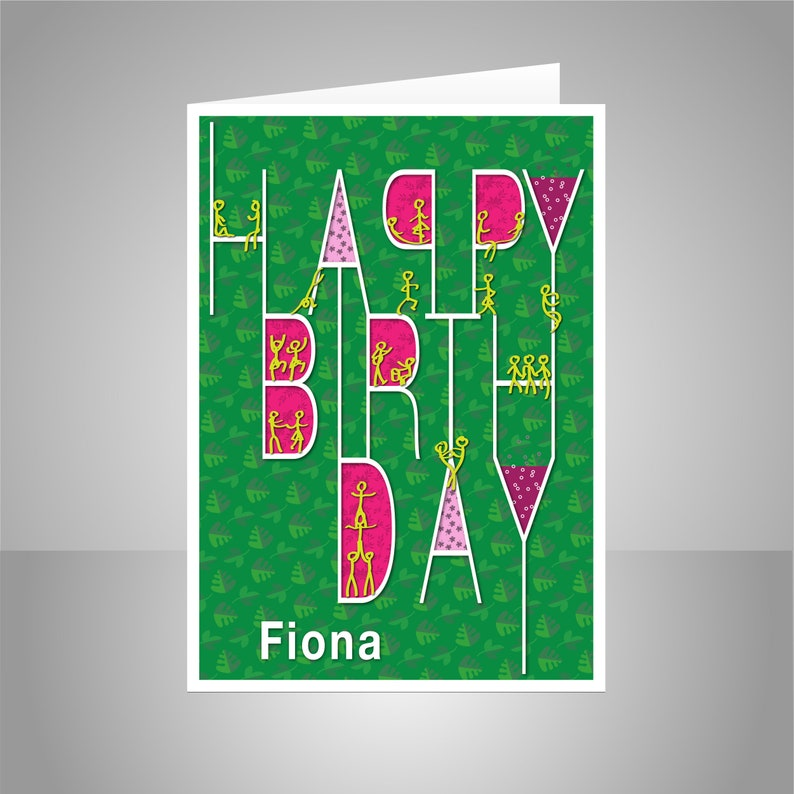 Happy Birthday Card Personalized Edit NAME For Girl Sister