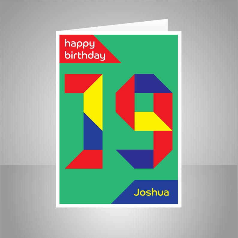 Personalised 19th Birthday Card For Boy Girl Edit Name 19