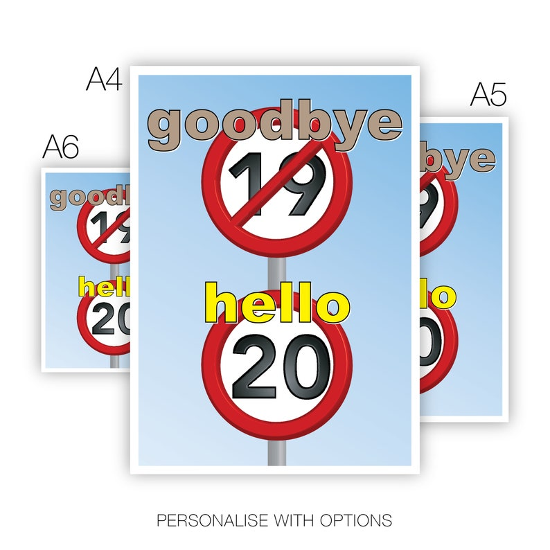 Funny 20th Happy Birthday Card For Him Her 20