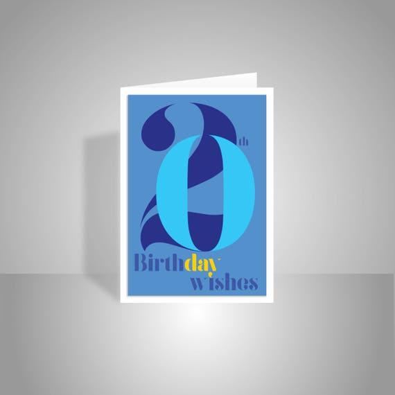 20th Birthday Wishes Card For Boy Or Man 20 Happy