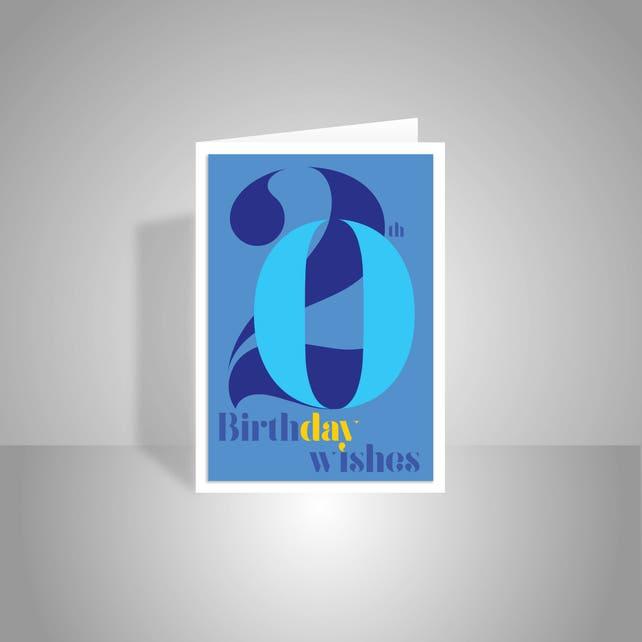 20th Birthday Wishes Card For Boy Or Man 20 Happy Birthday Etsy