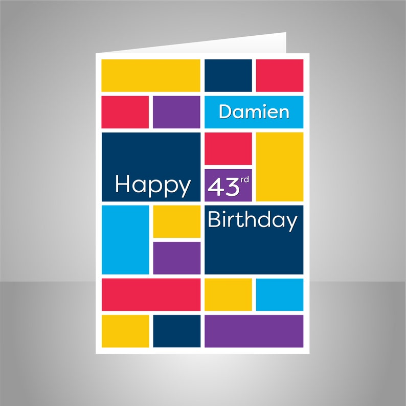 Happy Birthday Card For Him Personalised Edit NAME AGE