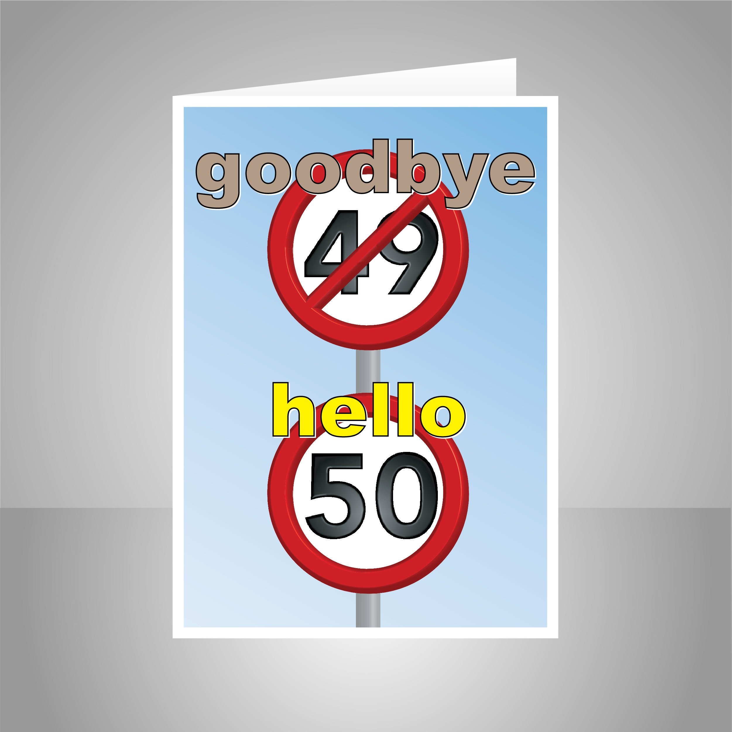 Funny 50th Happy Birthday Card For Him Her 50