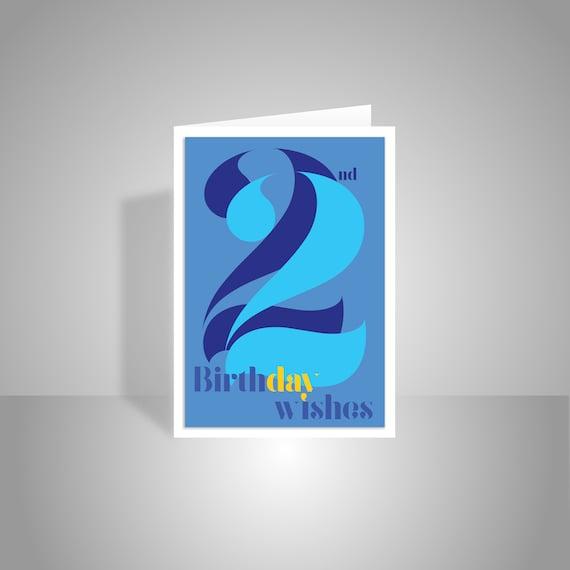 22nd Birthday Wishes Card For Boy Man Male 22 Happy Birthday Etsy