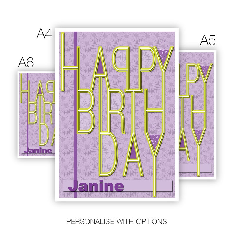 Daughter Or Edit Name Happy Birthday Card For Her Girl Female
