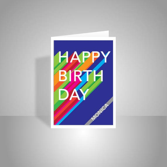Personalised Name Happy Birthday Card For Her Him Mom Dad