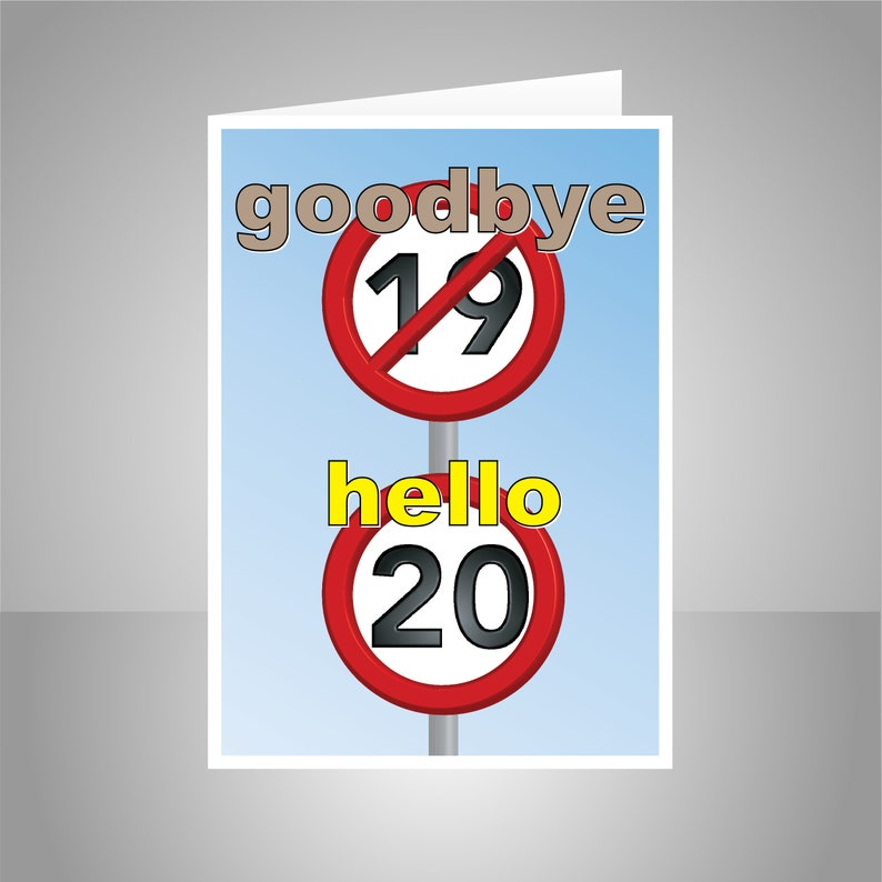 Funny 20th Happy Birthday Card For Him For Her 20 Birthday