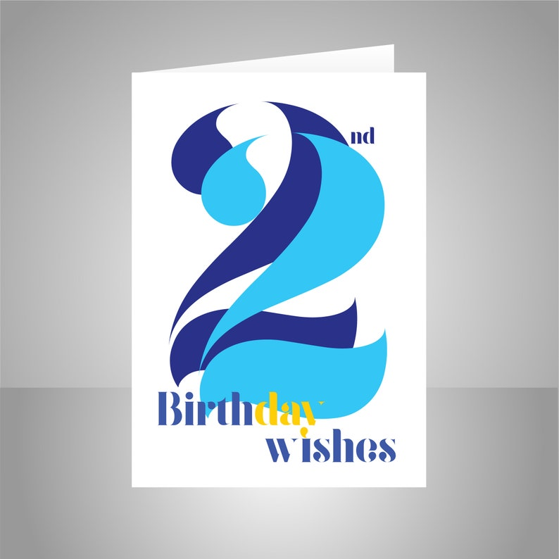 22nd Birthday Wishes Card For Him Man Male 22