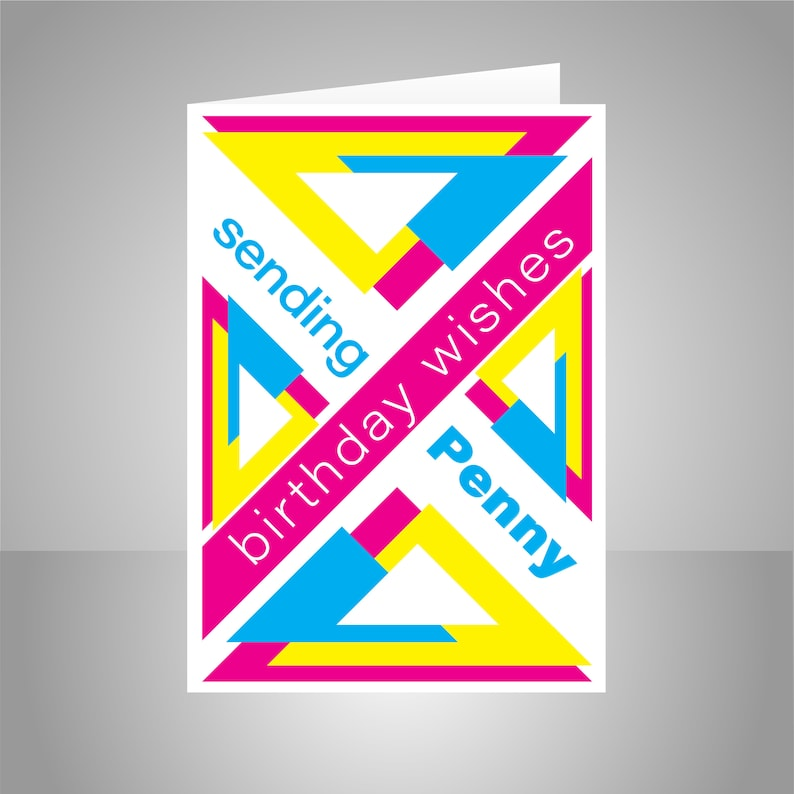 Birthday Wishes Card For Her Or Him Pop Art Edit Name