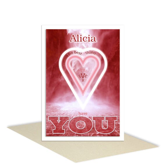 Personalised name romantic valentine card for husband or etsy 50 m4hsunfo