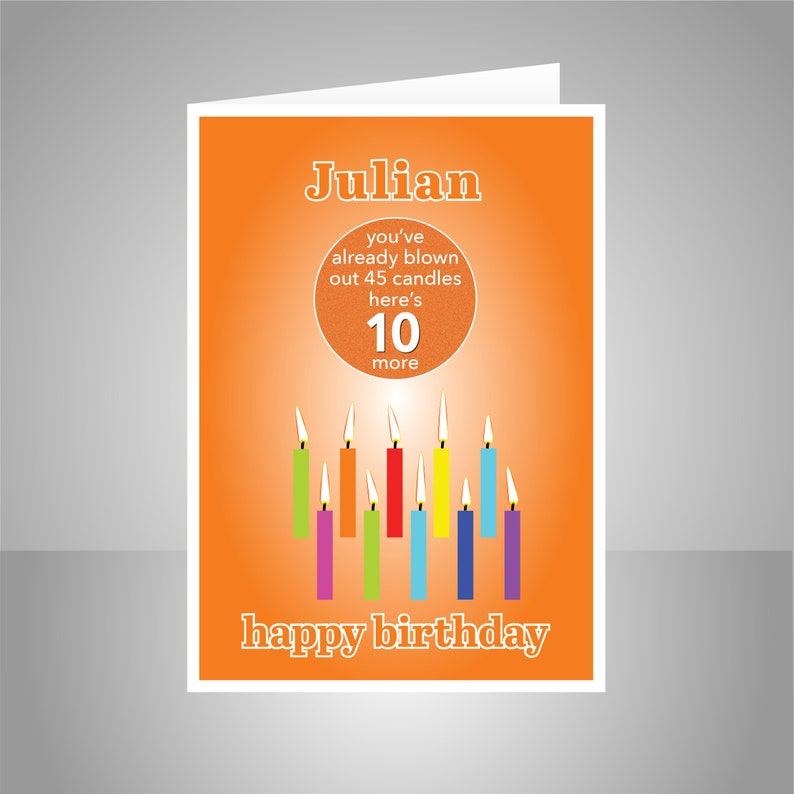Funny 10th Birthday Card For Boy Girl Edit Name 10 Bday
