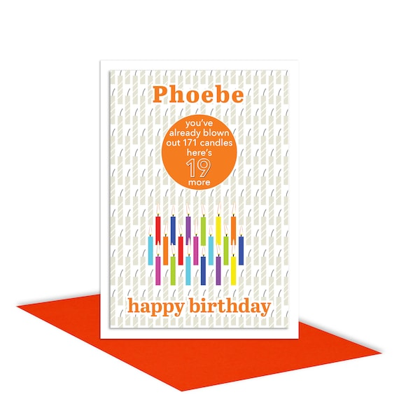 Funny 19th Birthday Card For Boy For Girl Edit Name 19 Bday Etsy
