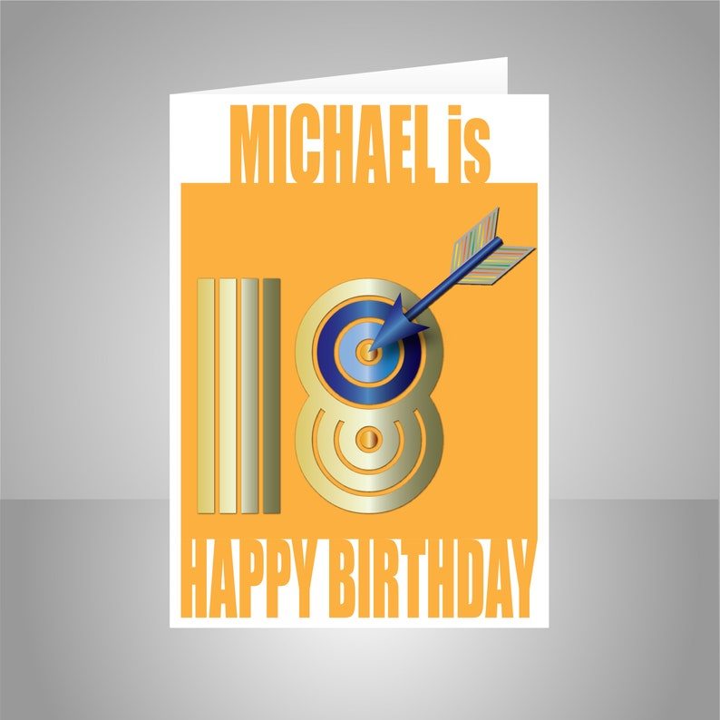 Personalised 18th Birthday Card For Boy Him Edit Name 18
