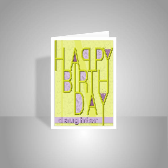 Daughter Or Edit Name Happy Birthday Card For Girl Female Etsy