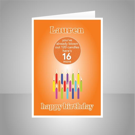 Grappige 16e Verjaardagskaart Voor Een Jongen Voor Meisje Etsy