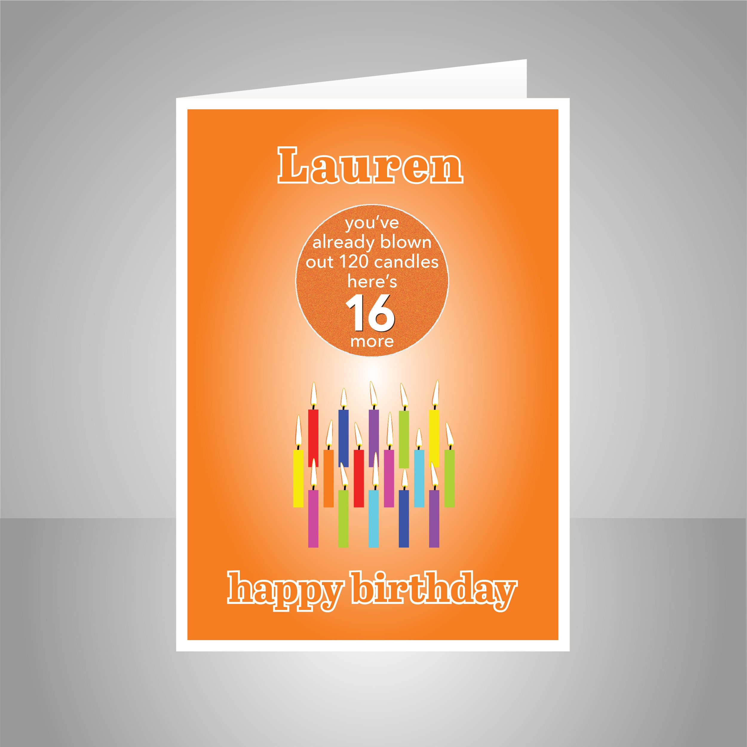 Funny 16th Birthday Card For Boy Girl Edit Name 16 Bday
