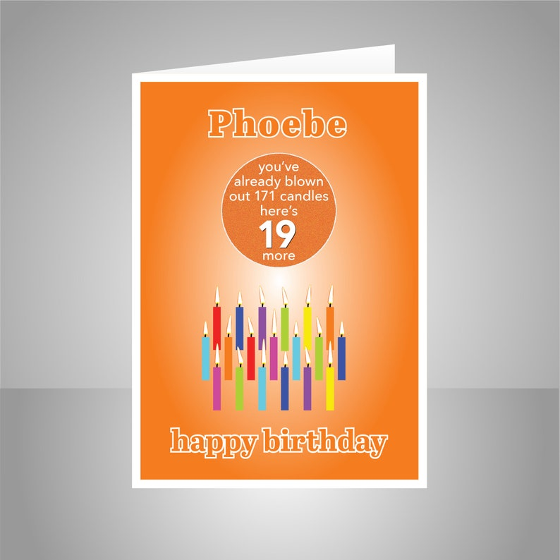 Funny 19th Birthday Card For Boy Girl Edit Name 19 Bday